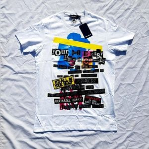 DSQUARED2 WHITE SHORT SLEEVE T-SHIRT